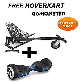 "6.5"" G PRO Blue Bluetooth Hoverboard con Go Monster Hoverkart en Camo"