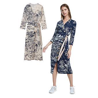 Desigual Pacific Dream Hawaiian tropiskt tryck Midi skjorta klänning