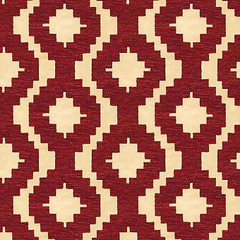 Mcalister textiles arizona rideaus rouges géométriques