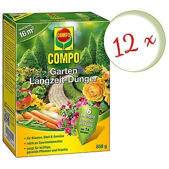 Disperso: 12 x COMPO Garden Fertilizante a largo plazo, 850 g