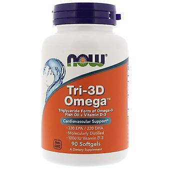 Tri-3D Omega 330 EPA/220 DHA (90 softgels)-nu Foods