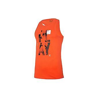 4F TSM026 H4L20TSM026POMARACZ universal summer men t-shirt