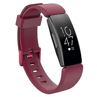 Replacement Wristband Strap Bracelet Band for Fitbit Inspire/Inspire HR/ACE 2[Red Wine,Large]
