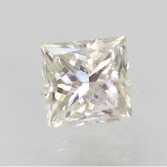 認定 0.65 カラット H カラー VS2 プリンセス強化天然ダイヤモンド 4.7x4.58mm