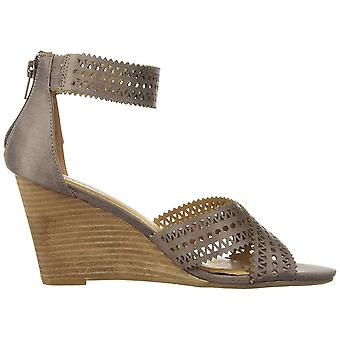 Report Women's Shoes sharon Leather Peep Toe Casual Platform Sandals