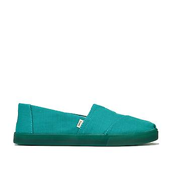 Women's Toms Classics Heritage Canvas Cupsole Pumps in Green
