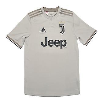 Boy's adidas Junior Juventus Auswärtstrikot in Grau