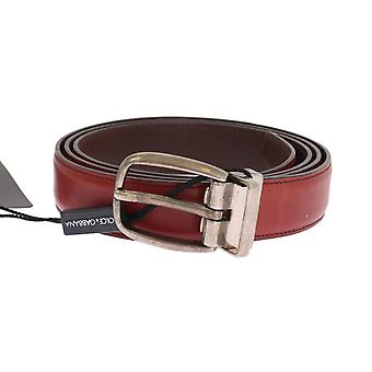 Dolce & Gabbana Red Leather Gold Buckle Belt