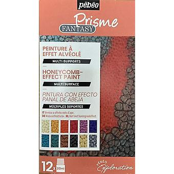 Pebeo Fantasy Prisme Reactive Multi-Surface Paint Discovery Set 12 x 20ml