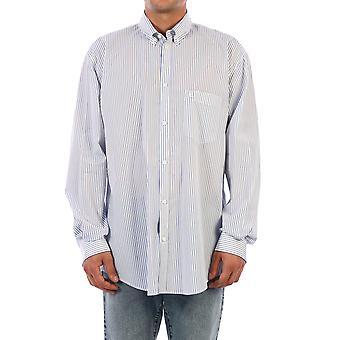 Balenciaga 621924tim169086 Mænd's lyseblå bomuldsskjorte