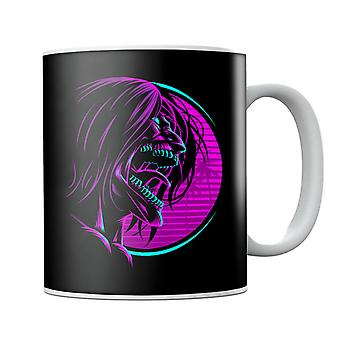 Retro Eren Yeager Face Attack On Titan Mug