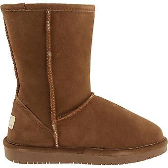 Bearpaw Women & s أحذية إيما جلد الأغنام القصيرة مغلقة تو الكاحل الباردة أحذية الطقس