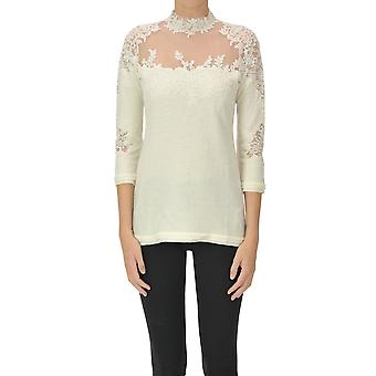 Ermanno Scervino Ezgl078061 Women's Beige Wool Sweater