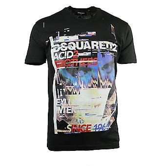 Dsquared2 Acid2 Cool Fit Camiseta Preta