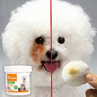 Pet Dog Cleaning Pads Facial Paper Towels Wipes - Pet Eye Wet Wipes Tear Stain