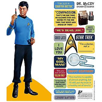 Stationery - Leonard McCoy - Card and Sticker Sheet New 4582