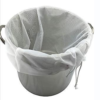 2PCS Food Fruit Juice Strainer Bag White 26x22 Inch