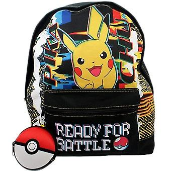 Pokemon Pikachu Ready For Battle Roxy Burgundy Children's Backpack