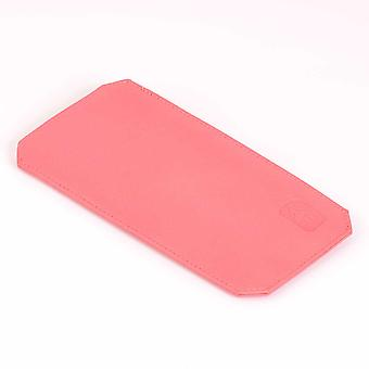 Pink Cambridge Leather Glasses Case