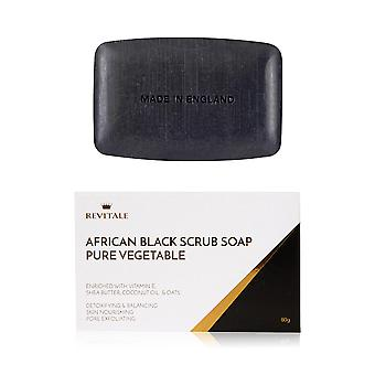 Revitale African Black Scrub Soap - Pure Vegetable - Detoxifying & Balancing