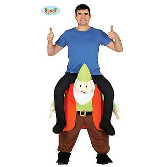 Piggyback kostym bära mig dvärg GNOME kostym en storlek