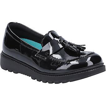 Hush Puppies Girls Karen Patent Leather Junior School Shoes