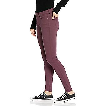 Brand - Goodthreads Women's Mid-Rise Skinny Jeans, Burgundy, 32 Long