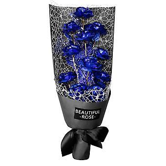 Bouquet von elf Ewigkeit Rosen - blau