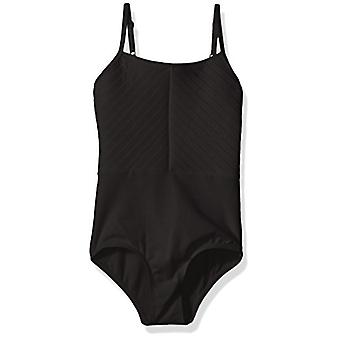 Danskin Girls' Big Camisole Leotard, Rich Black,, Rich Black, Size Large (12/14
