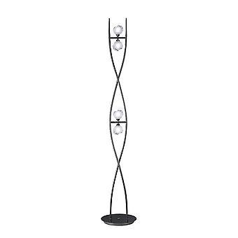 Vloerlamp 4 Light G9, Zwart Chroom