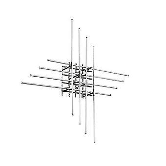 Ideal Lux Cross - Integrierte LED große Deckenspülleuchte Chrom