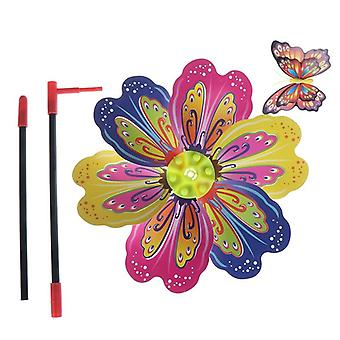 Butterfly Flower Windmill, Colourful Wind Spinner For Garden Yard Decoration