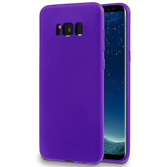 Matte Soft Shell for Samsung Galaxy S8 Solid Color Ultra-Slim Lightweight Thin TPU Purple