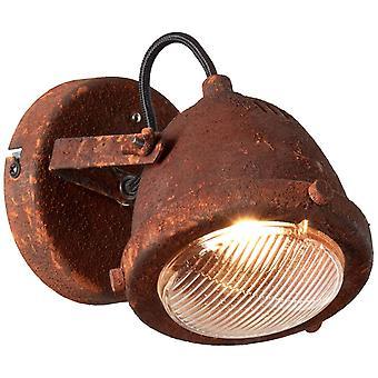 Brilliant Lampada Carmen LED Wall Spot Rust-Colored Riflettore a LED 1x-PAR51, GU10, 5W a LED incluso, (380lm, 3000K) Scala