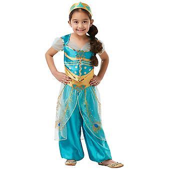 Jasmine prinsessa Genie Aladdin Disney Live-Action elokuva kirja viikolla tyttöjen puku