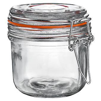 Argon Geschirr Glas Aufbewahrungsglas mit luftdichten Clip Deckel - 200ml - Orange Seal