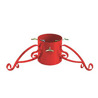 Romantic Metal Christmas Tree Stand for Trees up to 3m - Red