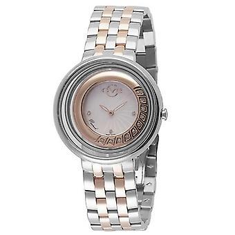 GV2 Tekijä Gevril Women's 1603 Vittorio Diamonds Kaksisävyinen ruostumattomasta teräksestä valmistettu kello