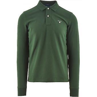 GANT Green Classic Lange Mouw Polo Shirt