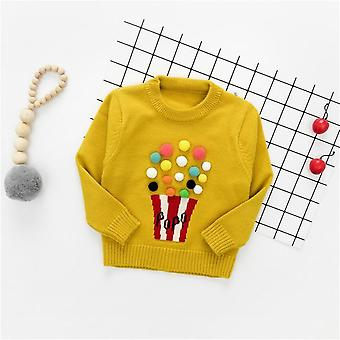 Suéter de manga larga, Pompon Design-warm Knitted Woolen
