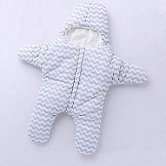 Explosive Models Starfish Geometric Pattern Sleeping Bag- Winter Cotton Plus Velvet Baby Legs Sleeping Bag Hug