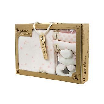 Puckdaddy Organic Wash set Filin Stars and Dots Pattern Pink Baby Gift Set