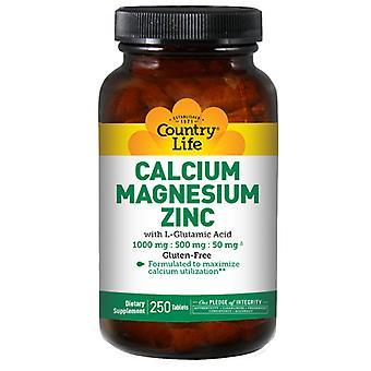 Country Life Cal-Mag-Zinc, 250 Tabs