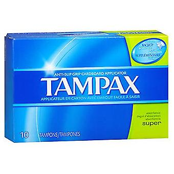 Tampax Tampons With Flushable Applicator Super Absorbency, 10 each