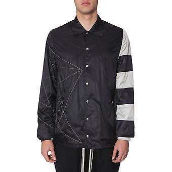 Rick Owens Rr19s2714nzem4096108 Men's White/black Nylon Outerwear Jacket