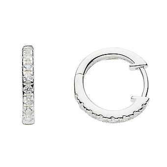 Dew sterling zilver Cubic Zirconia Huggie Stud Oorbellen 5427CZ024