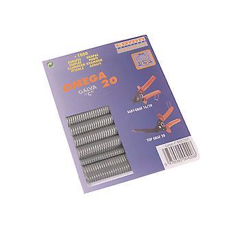 Edma Galvanised Steel Hog Ring Omega 20 (1000) EDM0420