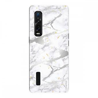 Hull For Oppo Find X2 Pro In Silicone Soft 1 Mm, Grey Marble