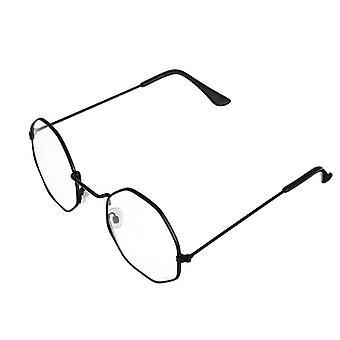 Lunettes de soleil Unisex Retro Polygon, lunettes à ossature métallique femme - haute qualité
