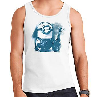 Despicable Me Stuart The Minion Guitar Art Men's Vest